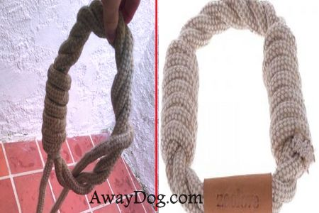 Jute rope ring for dogs
