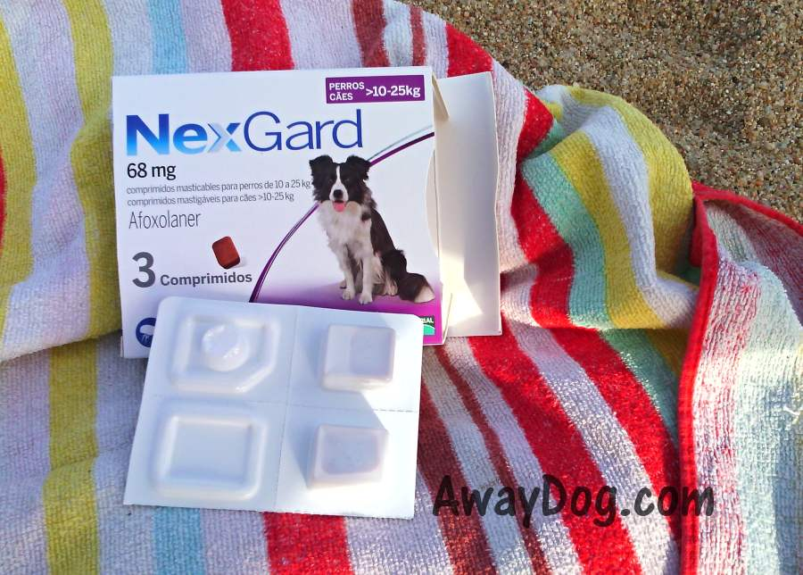 Antiparasite chewing tablets for dogs NexGard